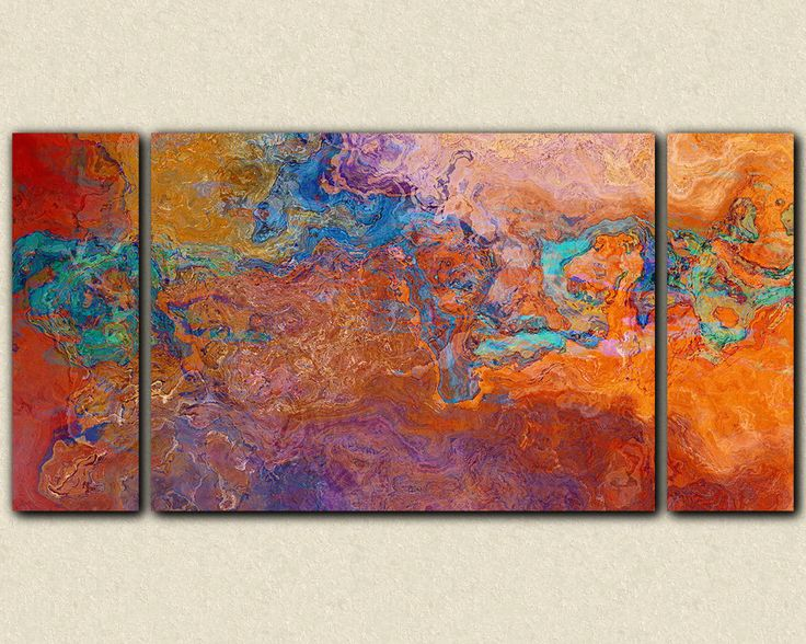 Oversize contemporary triptych, 30x60 to 40x78 canvas ...