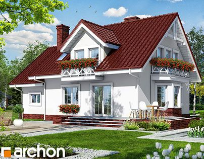 """Projekt domu w rododendronach 6"" http://be.net/gallery/31175769/Projekt-domu-w-rododendronach-6"