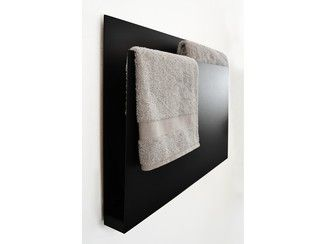 Wandmontierter elektrischer Handtuchwärmer aus Aluminium MAGAZINE BLACK - mg12