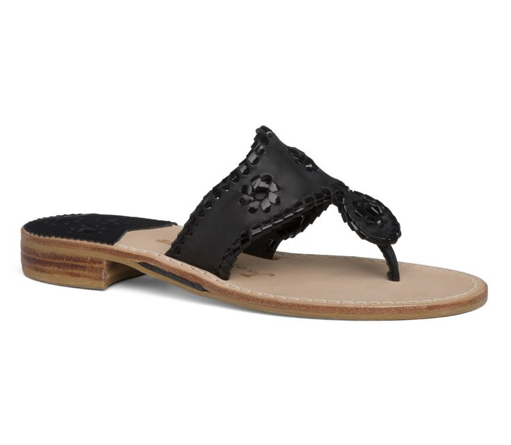 Jack Rogers Palm Beach Sandal in Black from THE LUCKY KNOT