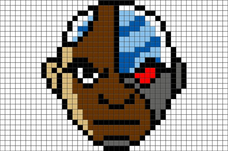 Teen Titans Cyborg Pixel Art from BrikBook.com #TeenTitans #Cyborg #superhero #FictionalCharacter #Cy #pixel #pixelart #8bit  Shop more designs at http://www.brikbook.com