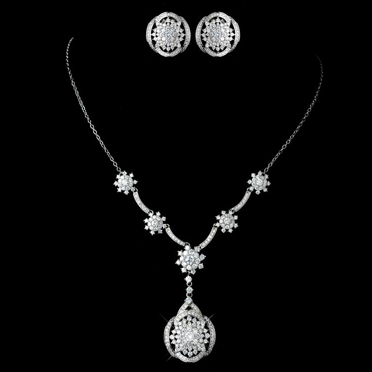 Great Gatsby Inspired Necklace and Earring Wedding Set