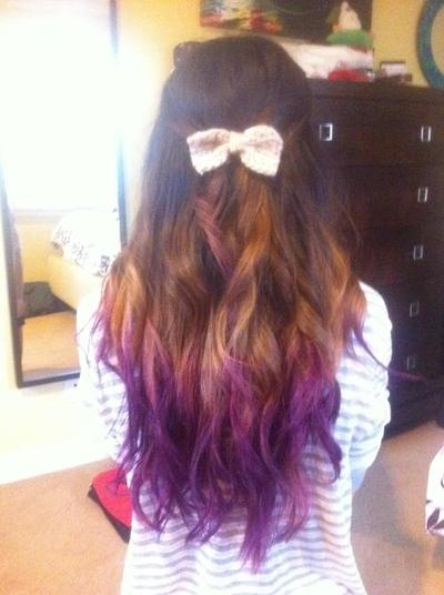 Dark brown, amber and purple ombre | Hair | Pinterest ...