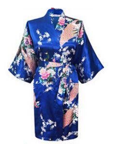 Hot Sales 2017 Chinese Rayon Zijde Simulatie Lente Zomer Vrouwen Robe Kimono Bad Gown Nachtjapon Badjas Phoenix Bloem Patroon