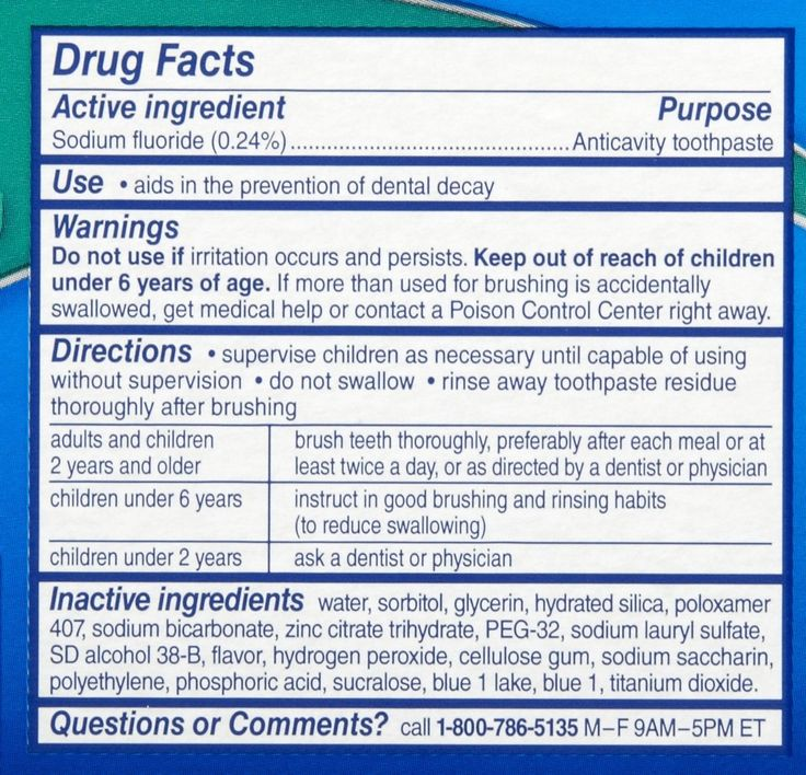 CHEMICALS TO AVOID 101: ALL OTHER MAINSTREAM TOOTHPASTE
