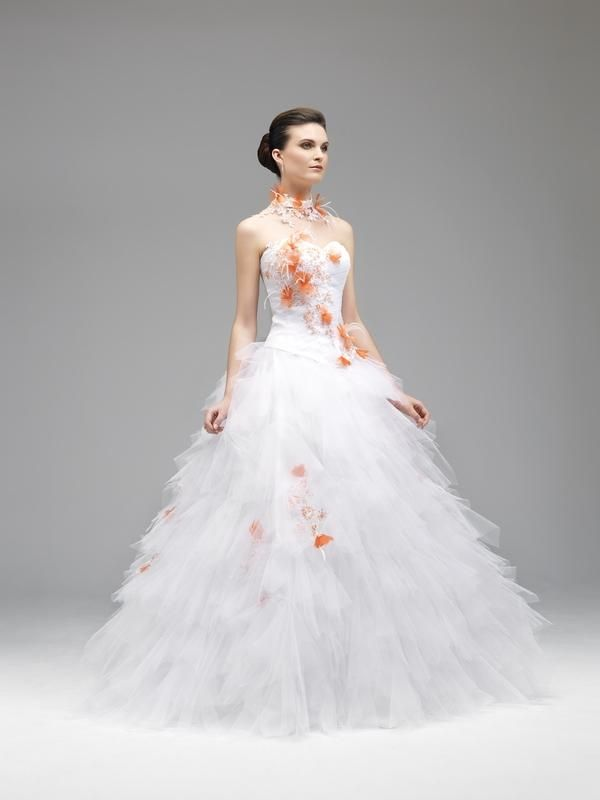 robe de mariée orange