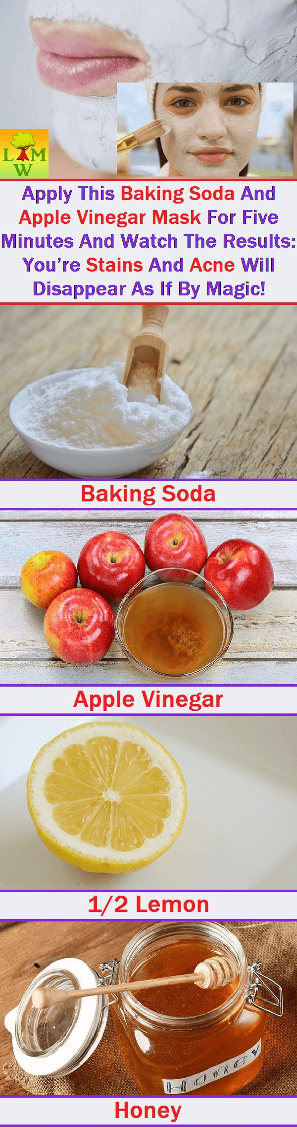 Apply This Baking Soda And Apple Vinegar Mask For 5 Minutes And Watch The Results: You're Stains and Acne Will Disappear As If by a Magic