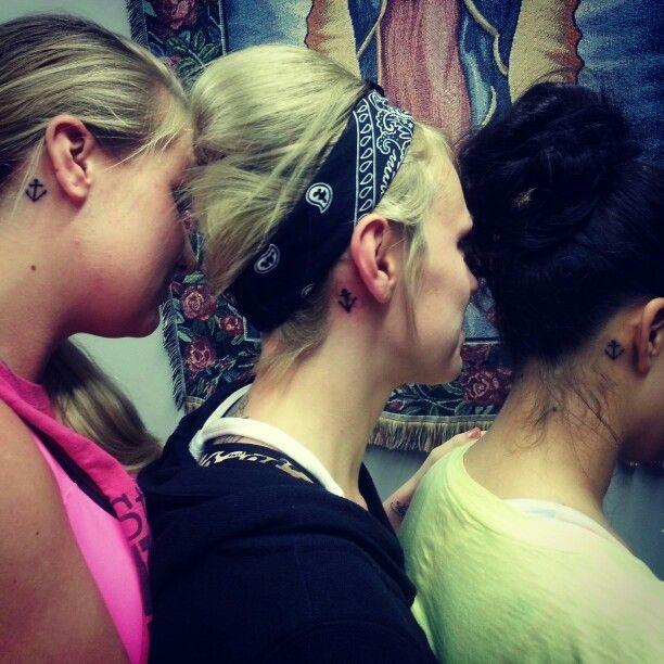 Friendship/sister anchor tattoos♥   Tattos   Pinterest
