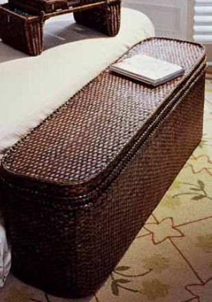 Rattan Bed End Chest - In 3 Colours - Complete Pad ®