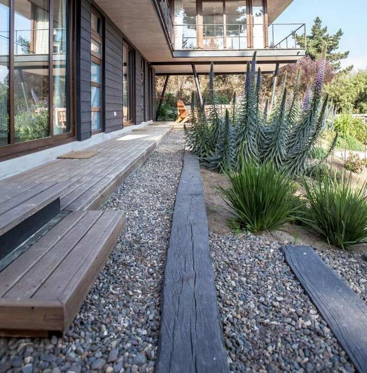 38 best jardin images on Pinterest Landscaping ideas, Gardening - allee de garage en cailloux