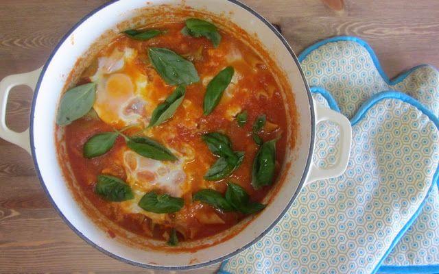 A Casinha das Bolachas: Tomatada com Ovos Escalfados