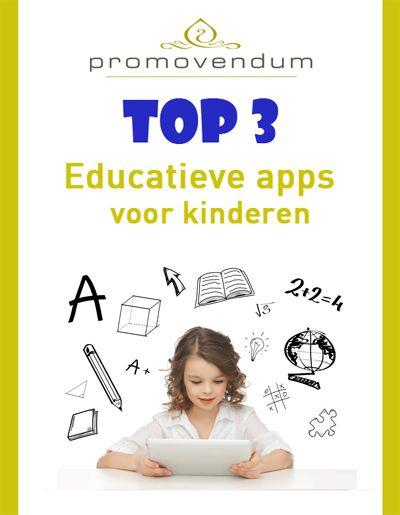 Leuke én educatieve apps voor kinderen. Zo leren ze pas echt goed rekenen, lezen en schrijven! Wij hebben een top 3 samengesteld http://www.promovendum.nl/blog/educatieve-apps-kinderen-de-top-3 #kinderen #tip #kids #basisschool #app #educatie #leren  #onderwijs #slim #tablet #trend #nieuws