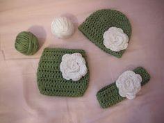 The Horse Town Hooker: Crochet Newborn Diaper Cover Set