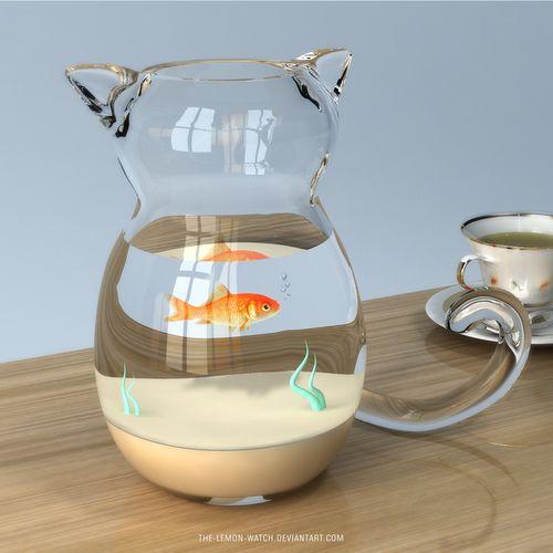 Glassss Cat by ~THE-LEMON-WATCH