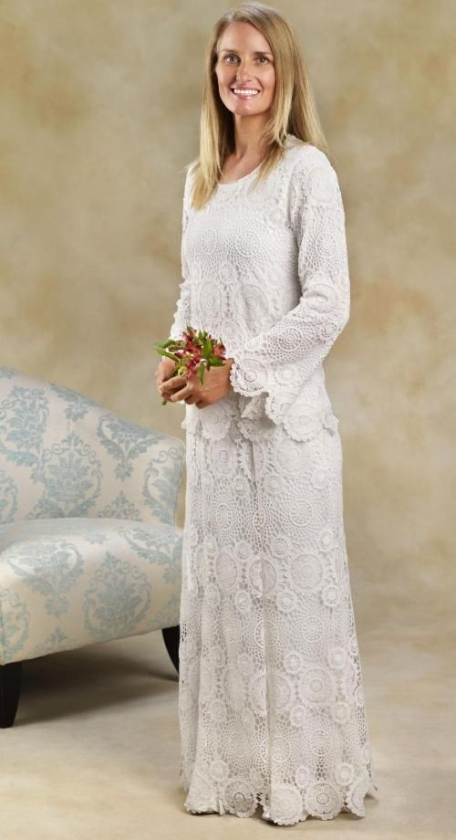 107 best white lds temple clothing images on pinterest for Lds plus size wedding dresses