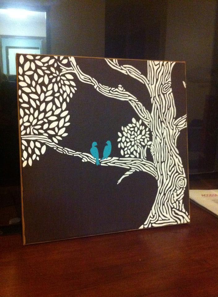 Love Birds in a Tree