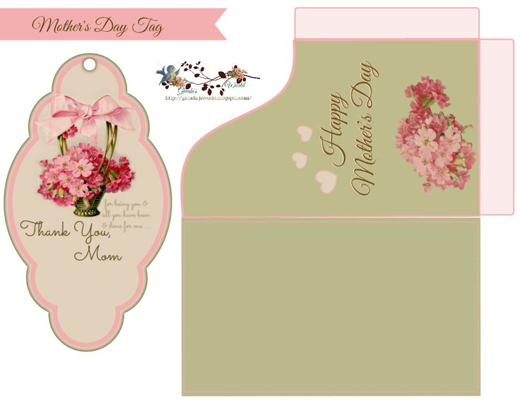 Free Mother's Day tag n sleve