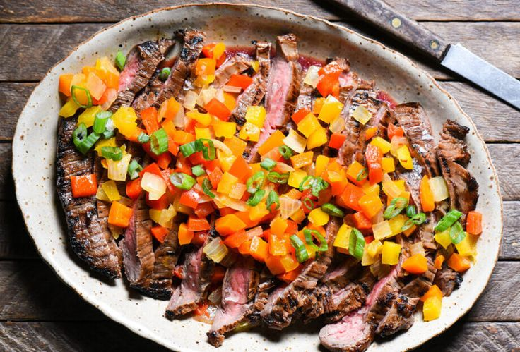 Instructions  Make the Honey Balsamic Flank Steak: In small bowl, whisk together oil, vinegar, honey, lemon juice, mustard, salt and pepper. Place steak in shallow baking dish; pour marinade over. Cover and refrigerate at least 4 hours or up to...