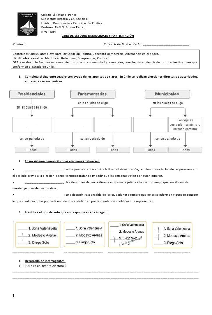 Colegio El Refugio. Penco                     Subsector: Historia y Cs. Sociales…