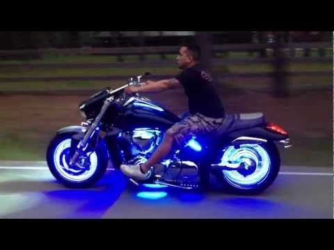 LED Wheel Glow Suzuki M109 - YouTube