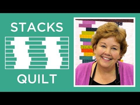 Click here to get supplies: http://bit.ly/stacksquiltmsqc Jenny shows us how to make an easy Stacks Quilt out of 2.5 inch strips of precut fabric (jelly roll...