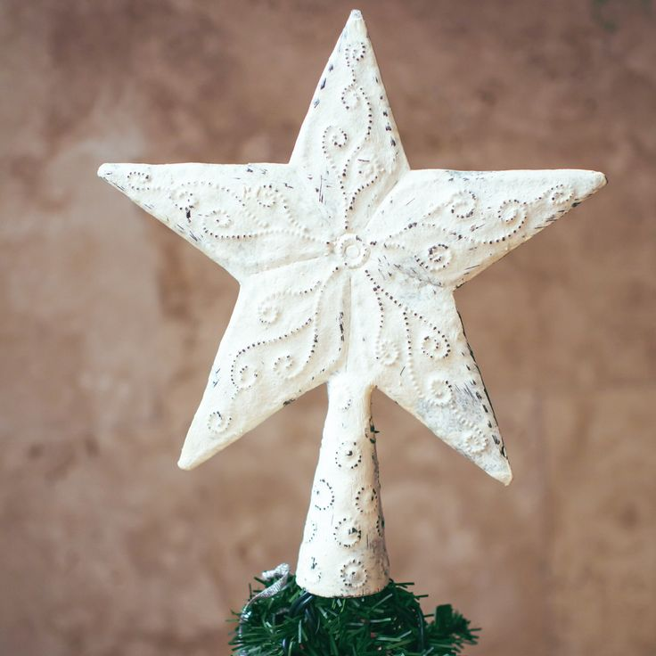 Metal Star Topper in upcycled metal from Haiti