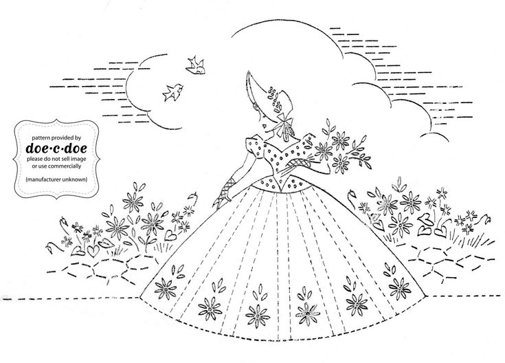 Flickr album full of vintage embroidery patterns