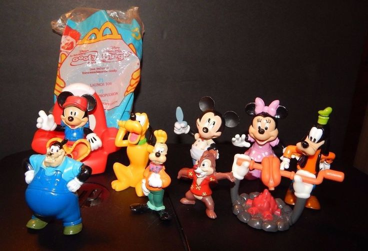 Mickey Mouse Clubhouse Figure Toys Lot Jointed/Poseable Mickey Chair Pete +Pluto #Disney