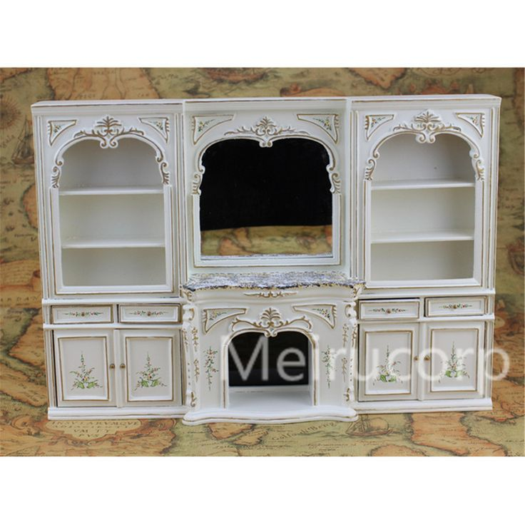 Cheap Doll Houses, Buy Directly from China Suppliers: Dollhouse miniature furniture 1/12 scale luxury White hand painted fireplace and wall