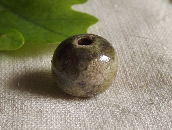 Ceramic bead raku by BlueBirdyDesign on Etsy, €1.00