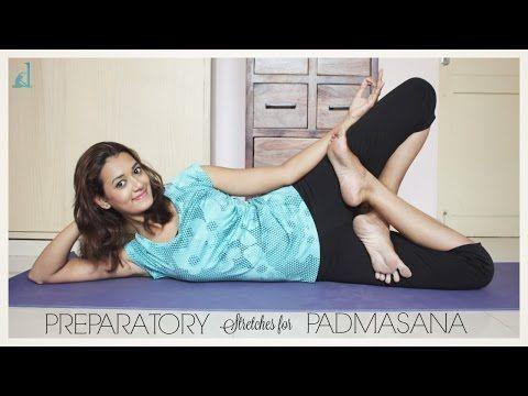 preparatory stretches for padmasana  lotus pose  dhivyam