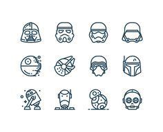 Free Star Wars Icons - perfect for making buttons/invites/wrapping paper