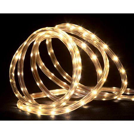 288u0027 Commercial Grade Warm White LED Indoor/Outdoor Christmas Rope Lights  On A Spool