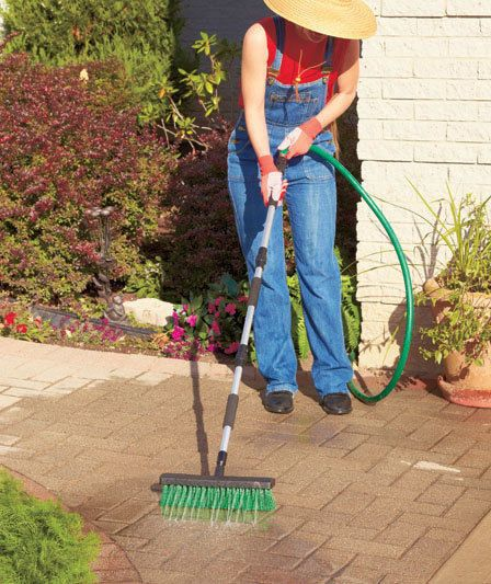 Power Wash Water Broom Pressure Washer Concrete Patio Porch Outdoor Stain Remove #PowerWasher