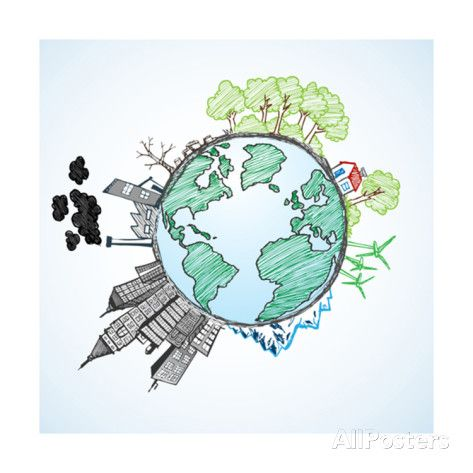 Doodle Image Of Earth And Environment Posters by ...