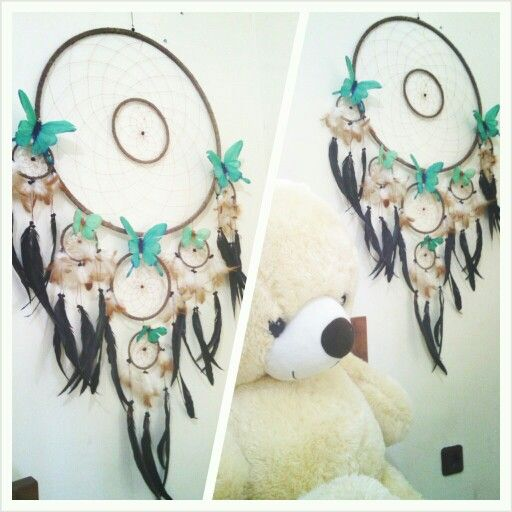 My butterfly dreamcatcher diy home decor pinterest for How to make dreamcatcher designs
