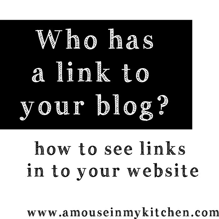 how to check inbound links to my site