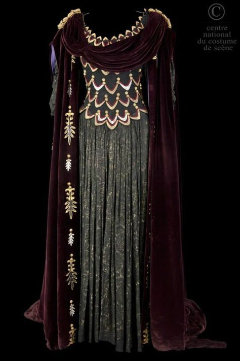 Costume designed by Francine Gaillard-Risler for Annie Ducaux in the 1961 production of Jean Racine's Britannicus