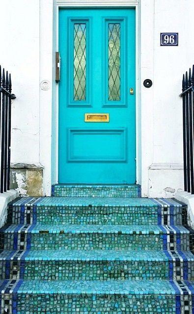 pretty door in London, England