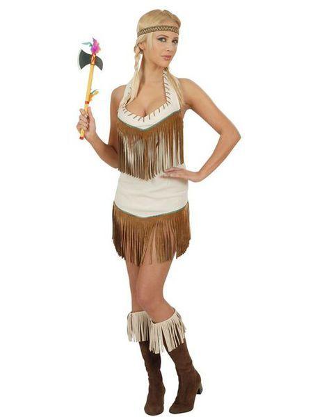 Pawnee-heimon Kaunottaren naamiaisasu on näyttävä inkkarimekko, joka on koristeltu hapsuilla. Mekossa on halterneck-yläosa, joten yläselkä jää mekossa avoimeksi. Mekon pituus selän saumasta helmaan on hieman alle 50 cm. Naamiaisasuun kuuluu myös päänauha. Sisältää: - minimekko - päänauha