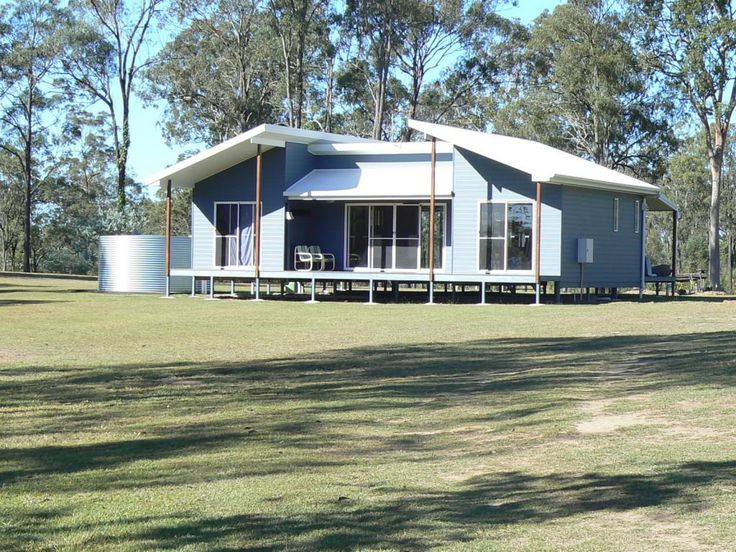 Kit Homes Melrose Is Perfectly Suited For A Holiday Home Or A Retired  Couple. This Modern Looking Design With Its Unusual Skillion Roof Is Neat  And Compact.