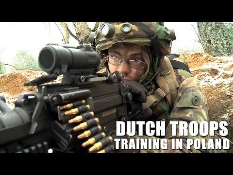Dutch troops training in Poland