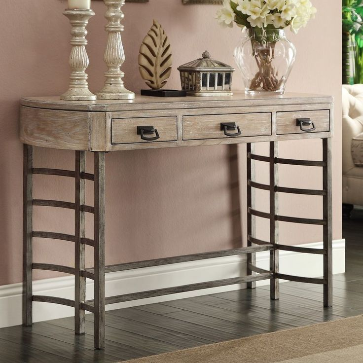 Transitional Style Glenmont Ash Finish Entry Hallway Accent Console Sofa Table