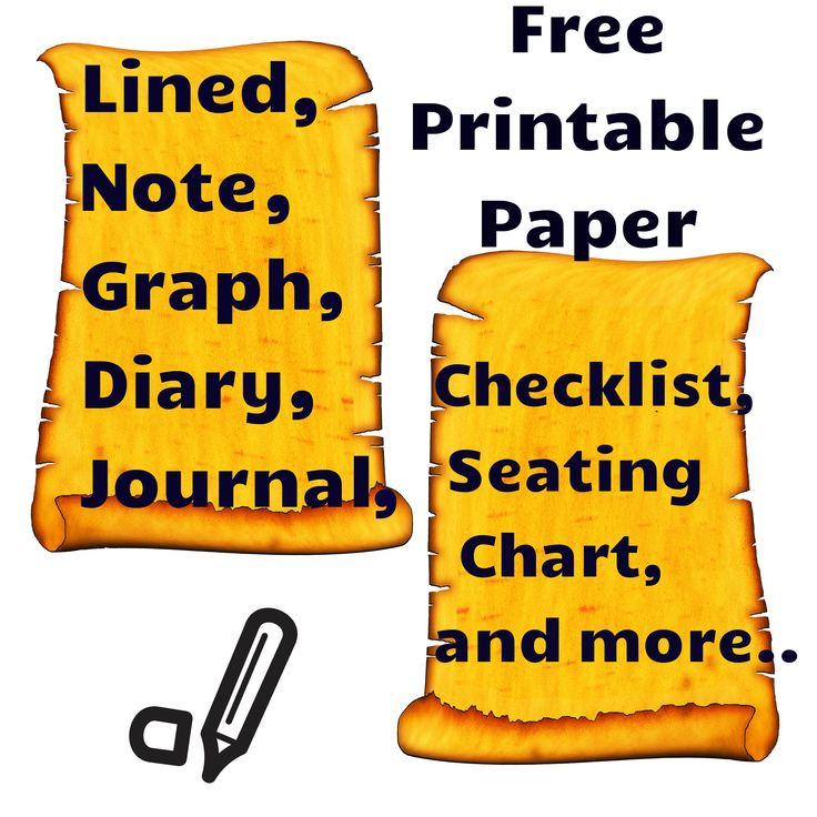 Free Printable Paper Templates! Types of paper includes lined, graph, note, journal, storyboard template, checklists, seating chart and more... Download them for free!