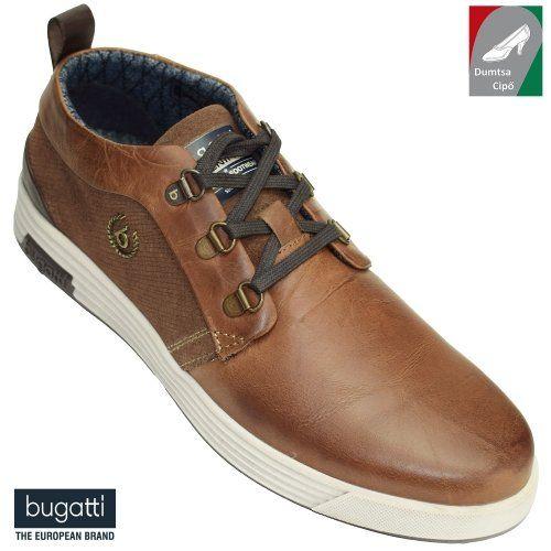 Bugatti férfi bőr cipő 322-28401-1214-6363 konyak