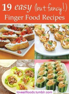 19 easy (but fancy!) finger food recipes. Perfect for outdoor BBQs and summer get-togethers.