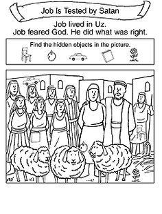 bible job coloring pages - photo#25