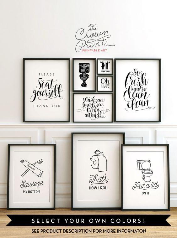 bathroom quotes etsy bath pinterest b der ideen g ste wc und gast. Black Bedroom Furniture Sets. Home Design Ideas