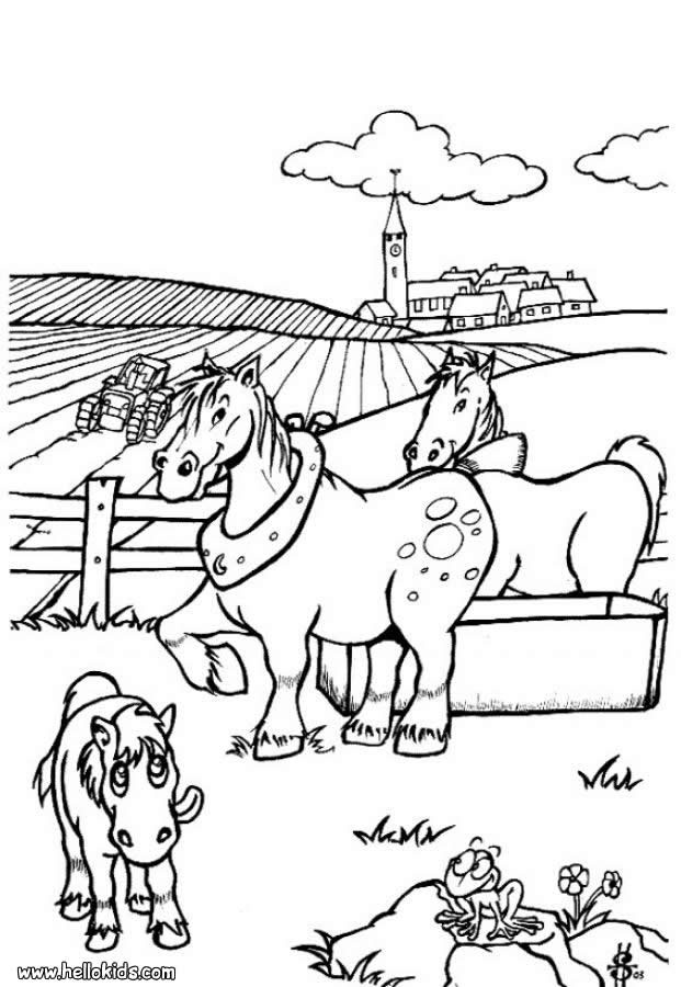 preschool horse coloring pages - photo#22