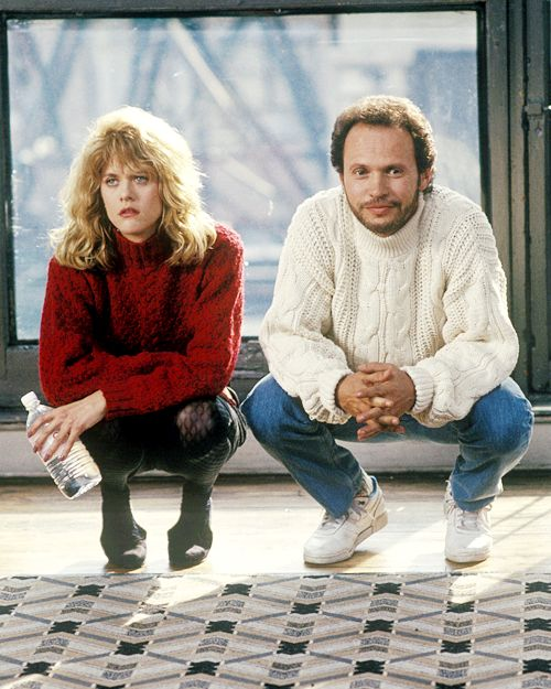 "Meg Ryan with Billy Crystal in ""When Harry Met Sally"" (1989)"